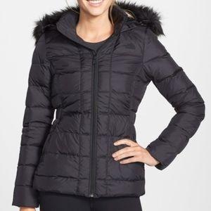 The North Face Gotham Faux Fur Trim Down Jacket